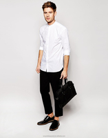 2015 top quality cool cotton shirt custom designs white dress shirt poplin mens dress shirt
