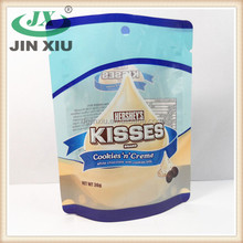 China manufacture white chocolate plastic bag for Hersheys Kisses