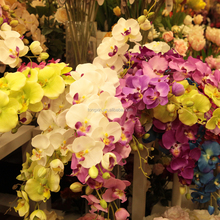 high quality artificial orchids wholesale ornament butterfly cymbidium flores artificiales silk decorative flower