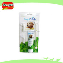 2013 New Year's day pet toothpaste and toothbrush suit Pet Cleaning suit (Pet Massage Toothpaste and Toothbrush suit)