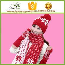 cashmere knitted winter scarf hat glove set