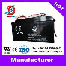 12v UPS battery 12v 150ah deep cycle solar battery manufucturer in China