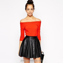 women fashion slim fit off shoulder t-shirt