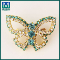 Wholesale cheap beautiful shoe clips brooch for slipper bow M521