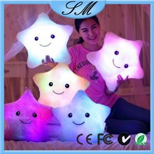 colorful lucky star shining led pillow led star shape light throw pillow