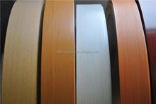 plastic strip, rubber profile, wood grain pvc abs edge banding