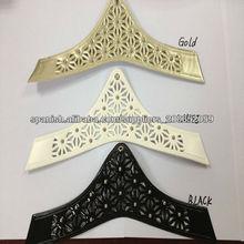 capelladas de cuerina sintetica material para sandalias