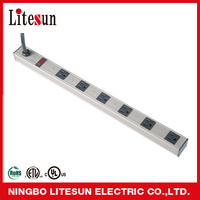 LTS-06. Power Strip with 6 outlets with metal case