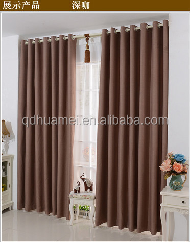 Blackout curtains with hooks