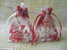 Factory directly supply 4x6 inch TOP quality organza tropical gift bags