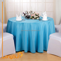 100% Polyester Blue And Purple Round Middle East Table Cloth