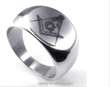 China wholesale fashion jewelry Masonic championship ring stainless steel for men