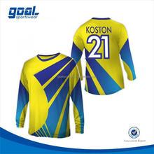 Quick dry school 100%polyester v-neck soccer/football jerseys