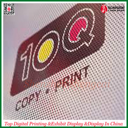 Printing adhesive one way vision vinyl, PVC micro-perforated film