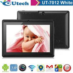 7inch A23 4G rom 512MB ram Tablet android 4.2 1.5 ghz built TF 5MP G sensor 3D WIFI camera tabletpc Black