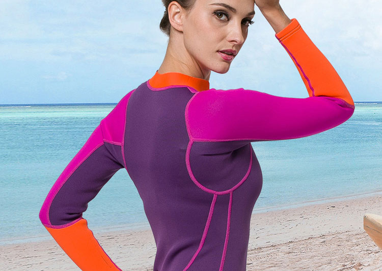 SBART Neoprene Wetsuit 2MM One Piece Swimsuit Women Long Sleeve Free Diving Suit Surfing Wetsuit Dive Surf Wet Suit