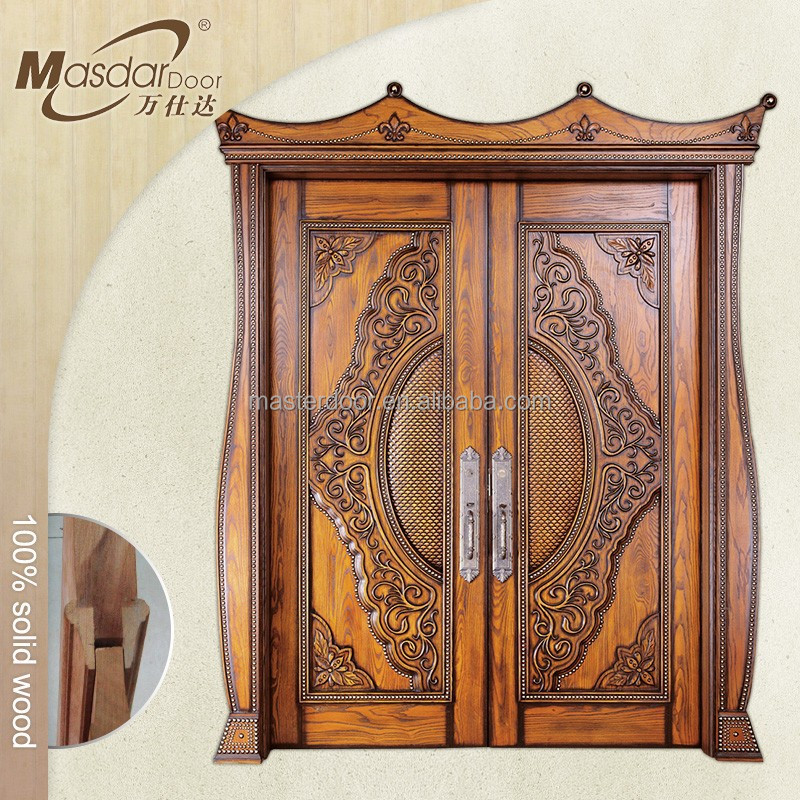 Indian style main wooden double door design buy main for Traditional wooden door design ideas