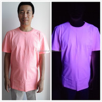 Excited by UV light used in bar, party functional wholesale t shirt design for men!!