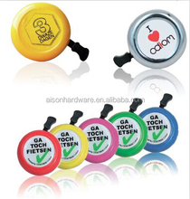 Colorful bicycle bell with cute logo