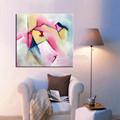 ألوان جميلة مجردة الفنان المهنية دعم الأعمال الفنية اليدوية