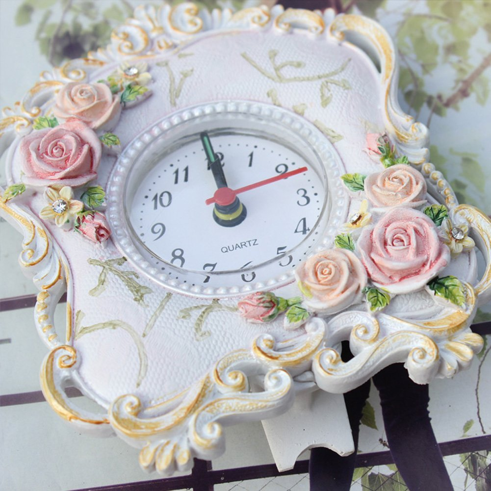 Floral alarm clock table alarm clock pretty alarm clock for Pretty html table