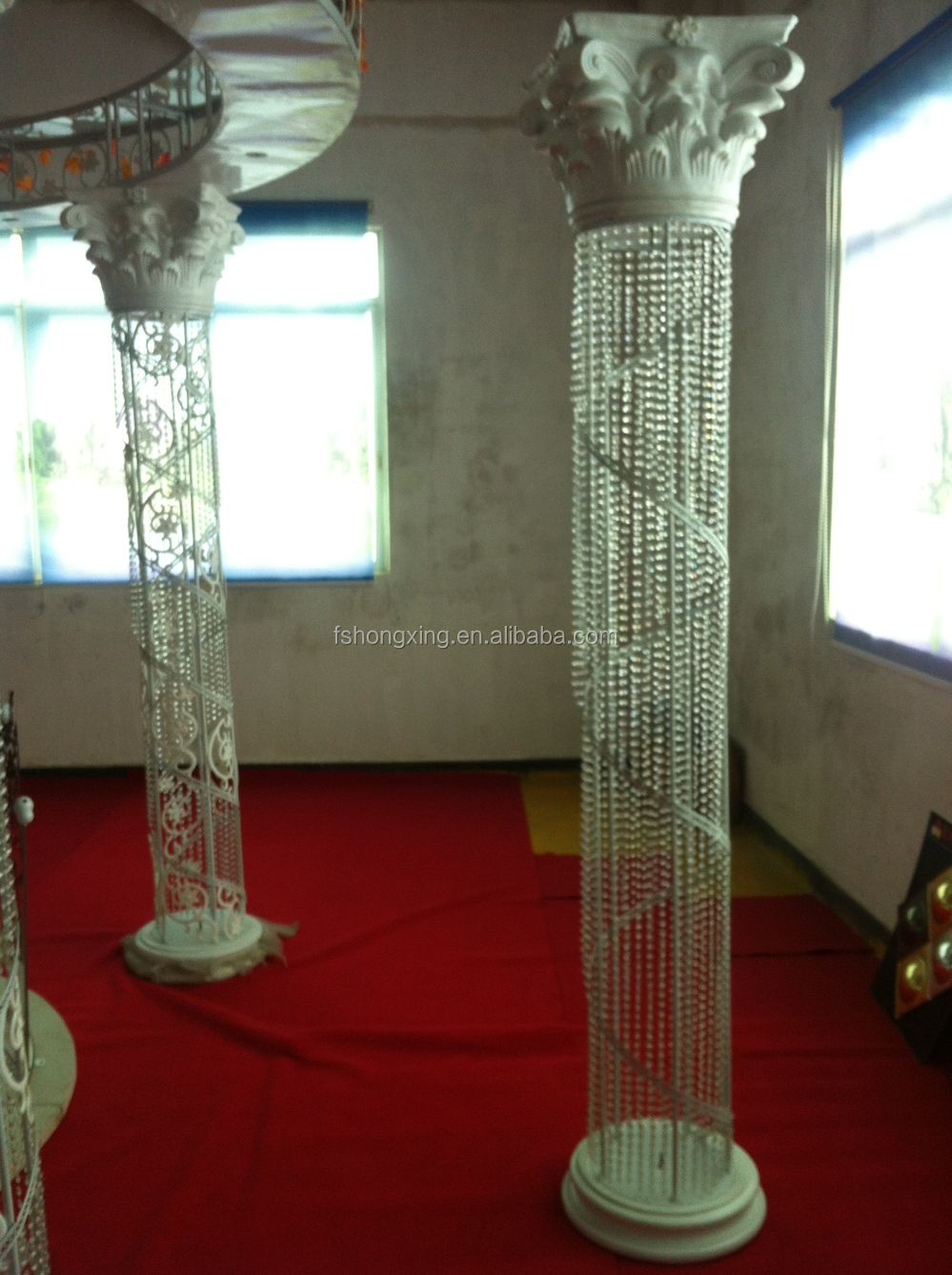 Illuminated modern wedding crystal decoration pillar for Acrylic decoration