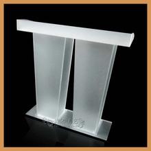 2015 nova polido vidro púlpito alta qualidade acrílico pódio púlpito púlpito