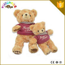 China Factory Plush Toys For Sale Stuffed Animal Wholesale Teddy Bears With T-shirt And Scarf