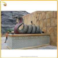 Large Outdoor Antique Animal Bronze Snake Boa Sculpture Custom Statue