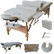 Cheap! 2 zoon wooden portable Chinese massage bed,table