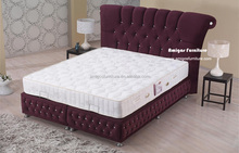 diffrent color velvet Bed with crystals Bedroom set 2015