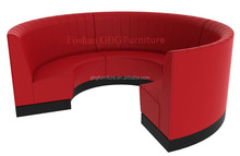 Modern classic design 3/4 circular restaurant booth sofa for sale 9100