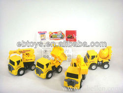 Pull back car cartoon building toy truck