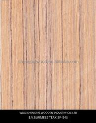 Burma veneer Teak SP-543 slice cut face veneer made from log for furniture recon veneer skins with top trusty quality