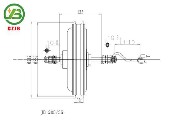 Jiabo jb-205/35 elektrikli bisiklet ve bisiklet hub motor 48v 1000w