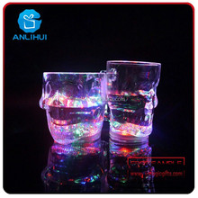 flashing led cup ktv supplie colorful led skull cup for party and dacoration