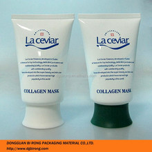 3.5 fl oz plastic squeezable cosmetic cream tube and pharmaceuticals tubes