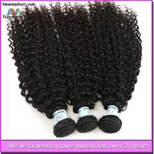 natural color kinky curly hair design product wholesale virgin brazilian hair