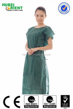 OEM China Factory PP Disposable Surgical Medical Patient Gown Wholesale