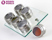 Wholesale Kitchenware Cooking Tools Magnetic Stainless Steel Condiment Set