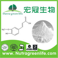 Pure Natural Organic Ferulic acid 98% from Rice Bran Extraction / Rice Bran P.E.