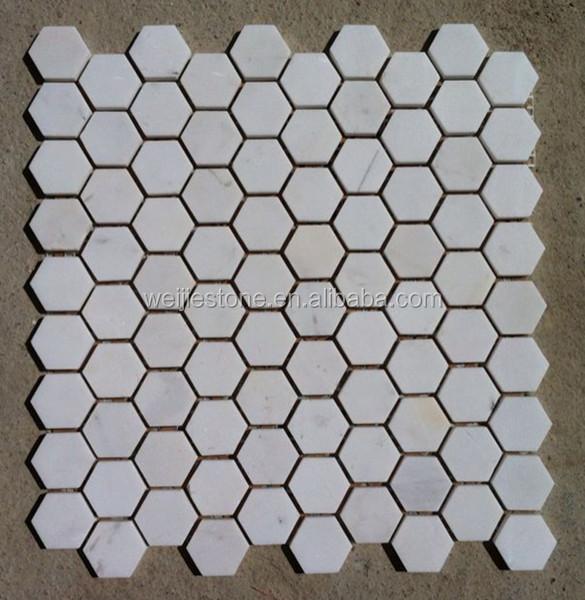 Club tafel en vloer decoratie witte zeshoekige vorm mozaïek tegel ...