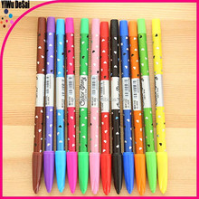 Popular plastic advertising ball pen lovely color pen