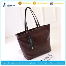Fashion bags PU tote bag big ladies fashion handbags