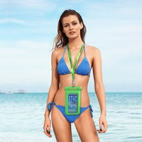 Underwater 20m waterproof cell phone neck pouch