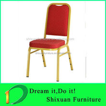 lycra chair cover Iron material Stackable Banquet Hotel Chair