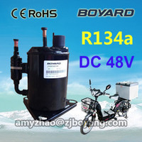 Electric refrigerator freezer 48V DC compressor for cold chain last mail delivery 1km