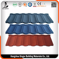 1340*420mm Building Metal Roofing Material Stone Coated Tiles Price