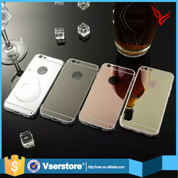 Factory in stock tpu mirror mobile phone cover case for iphone