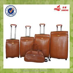 Popular design EVA Brown PU Algeria Nigeria Market Metal handle Duffle Luggage bags